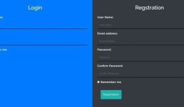 Login and Registration Form In Bootstrap 4
