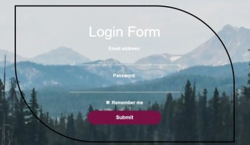 Fancy Square Login Form In Bootstrap 4