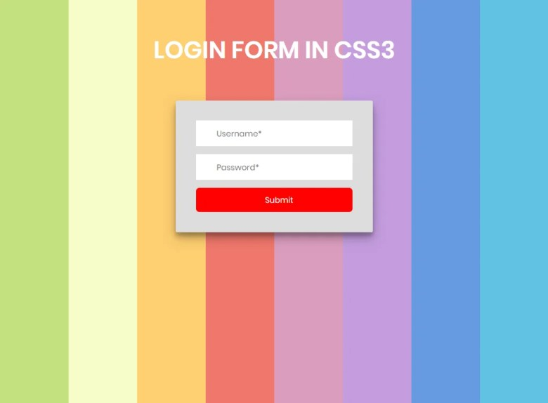 Login form In CSS3