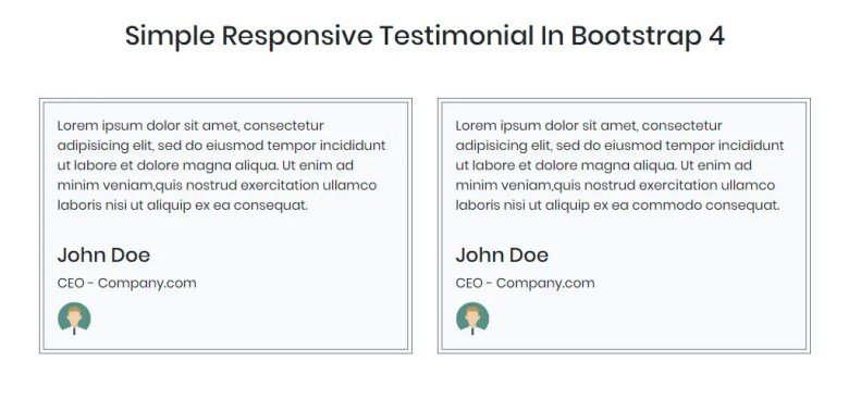 Simple Responsive Testimonial In Bootstrap 4