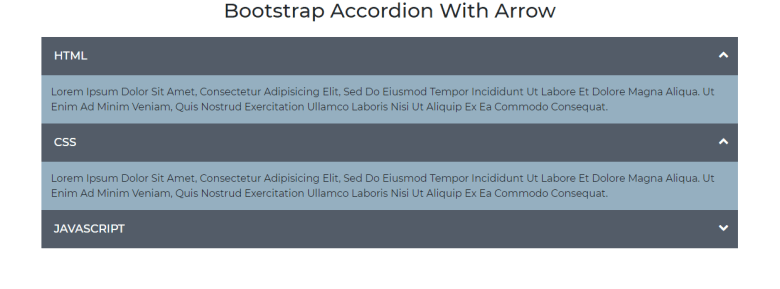 Bootstrap Accordion With Arrow