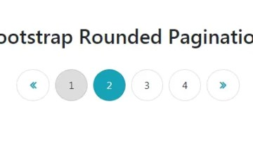 Bootstrap Rounded Pagination