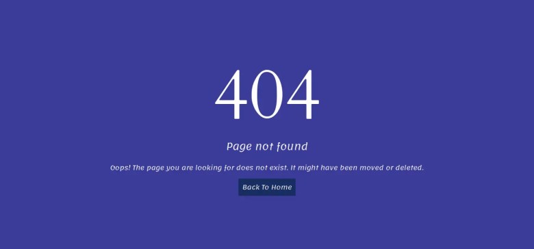 Bootstrap Error Page