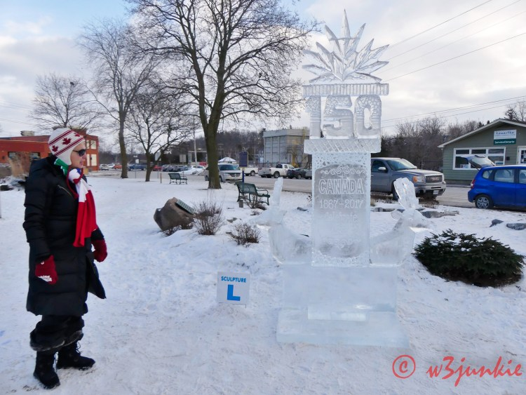 Polarfest Ice Sculptures in Lakefield