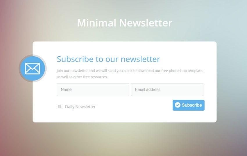 Minimal Newsletter Flat Responsive Widget Template By W3layouts