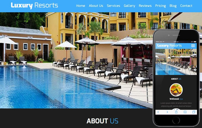 Luxury Resorts A Hotel Category Flat Bootstrap Responsive