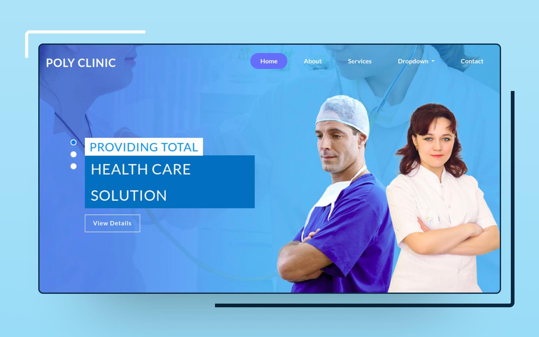 Best doctor wordpress themes · divi · jevelin · denticare · ipharm · smilepure · mediz · doctreat. Poly Clinic Medical Hospital Website Template W3layouts