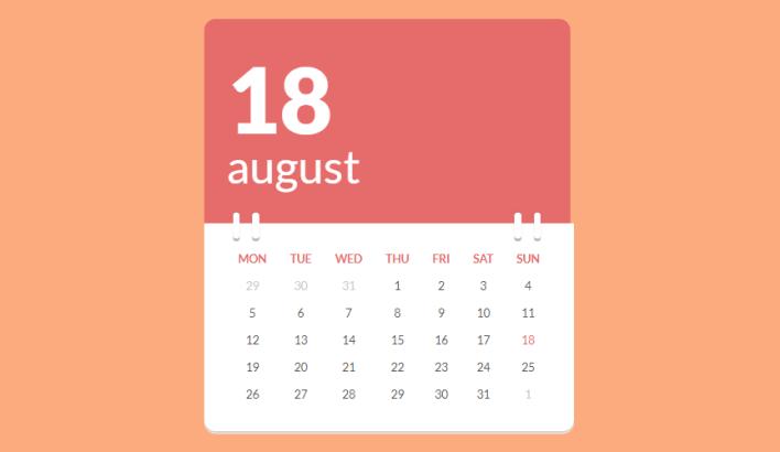 how to create a dynamic calendar in html