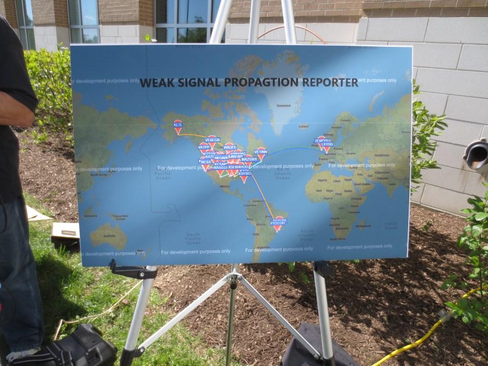 WSPR display for 100mw signal by Don, WA2SWX