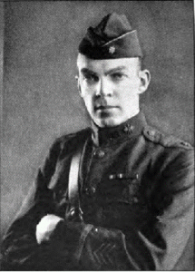 Armstrong in his WWI uniform