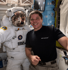 Bob Behnken, KE5GGX, recently returned from the first manned space flight of the SpaceX Dragon Crew Capsule.