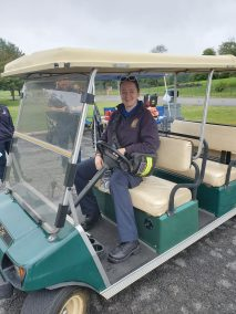EMT borrows golf cart at rest stop 1