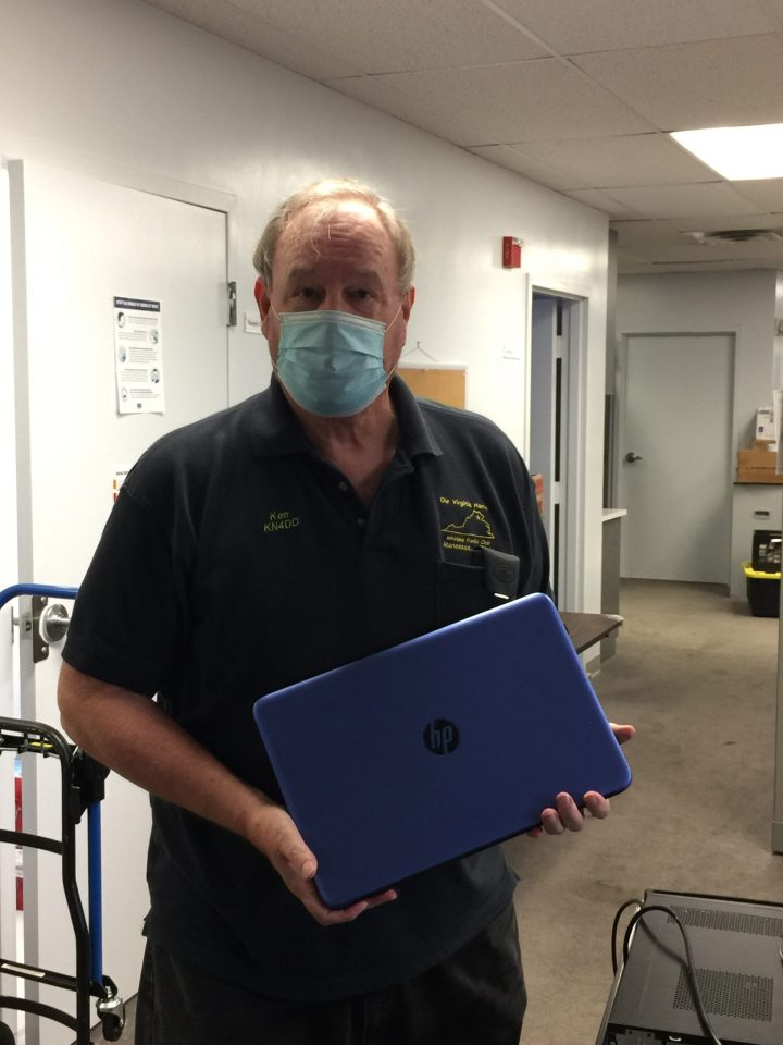 """""""The Other Ken"""", KN4DD donating computers at FACETS"""