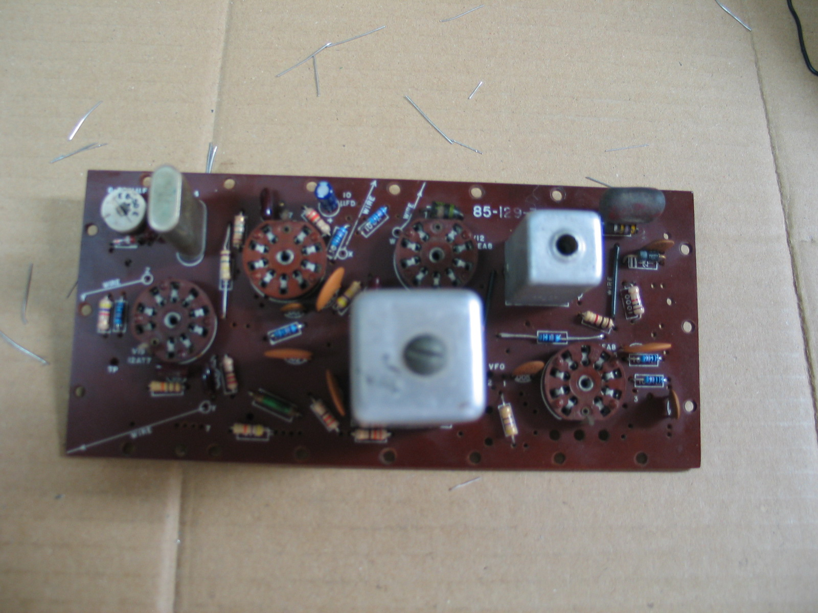 hight resolution of the solder holes must be clear for the wiring harness and other point to point wiring connections to be made excess solder on the foil side and old