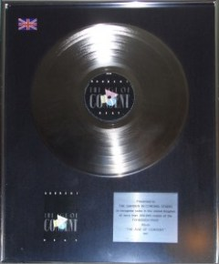 Jimmy Somerville Platin Award Bronski Beat The Age Of Concent