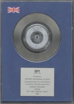 Silver Award Bronski Beat Hit That Perfect Beat