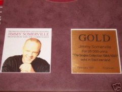 Jimmy Somerville Gold Award The Singles Collection