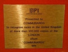 Jimmy Somerville Gold Award The Communards Communards