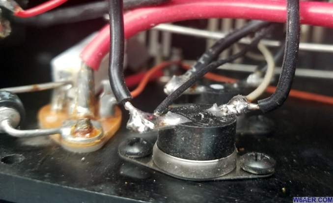 Astron RS-70M Power Supply Fan Modification Thermistor