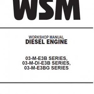 Repair and Service Manuals for Engines