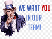 We Want You In Out Team Uncle Sam, Uncle Sam United States Wanted poster  Wedding invitation, we need you, Uncle Sam, United States, Wanted poster  png | PNGWing