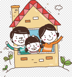 Family inside the house art Family family food people cartoon png PNGWing
