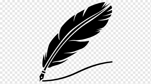 Ручки из перьевой бумаги Перьевая ручка Перо, перо, тушь, животные, лист  png | PNGWing