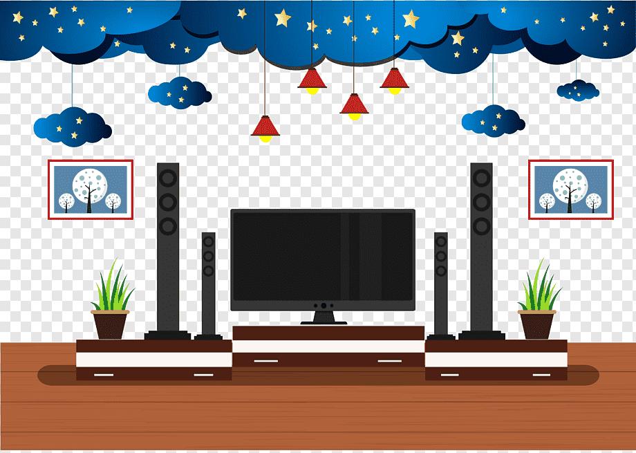 Home Entertainment System Illustration Living Room Adobe Illustrator Creative Flat Living Room Tv Background Television Furniture Interior Design Png Pngwing
