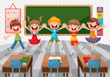 Five children s jumping animated illustration Student School Classroom Education Illustration Cartoon elementary school classroom cartoon Character child room png PNGWing