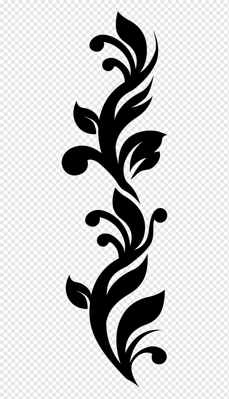 Batik Motif Bunga Vektor Png : batik, motif, bunga, vektor, Sticker, Decal,, Batik,, Leaf,, Logo,, Monochrome, PNGWing