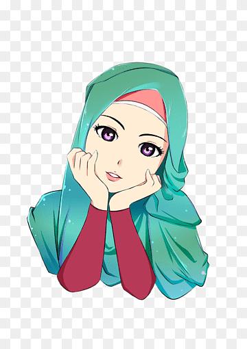Wanita Berhijab Png : wanita, berhijab, Karakter, Anime, Wanita,, Hijab, Cartoon, Islam, Muslim, Drawing,, Hijab,, Wajah,, Manga,, Kepala, PNGWing