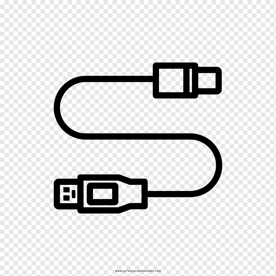 Drawing USB Electrical cable Battery charger Coloring book
