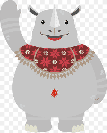Logo Asian Games 2018 Png : asian, games, Rhinoceros, Illustration,, Asian, Games, Gelora, Karno, Stadium, Mascot, Multi-sport, Event,, Pencak, Silat,, Sport,, Fictional, Character,, PNGWing