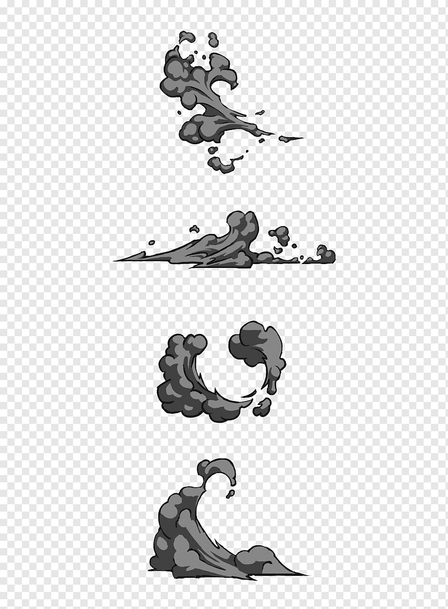 Cartoon Smoke Png : cartoon, smoke, Cartoon, Black, Black,, Smoke, PNGWing