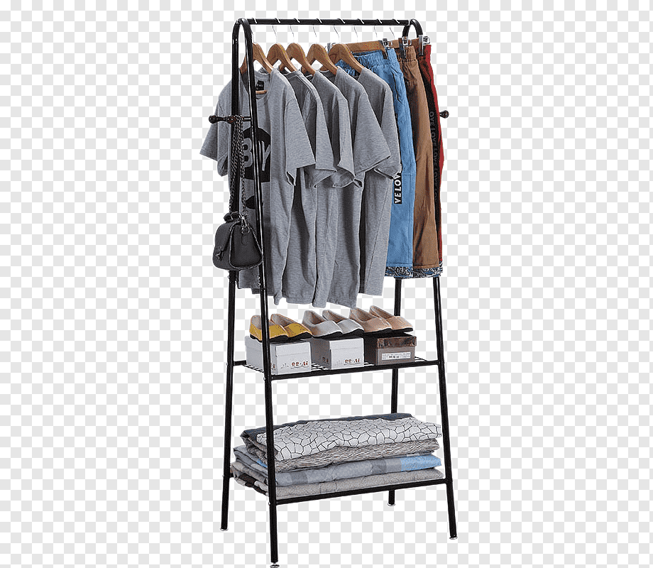 black steel clothes rack clothes