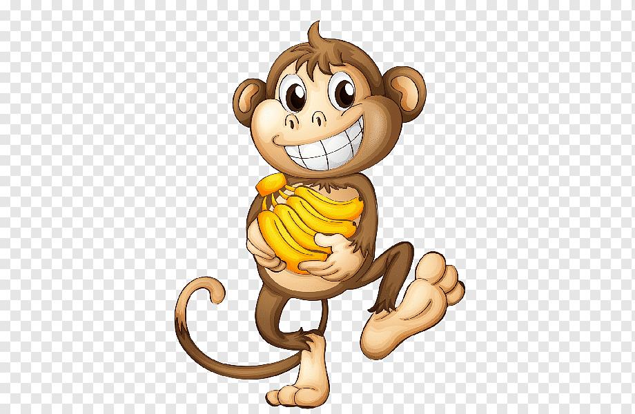 Brown And Beige Monkey Illustration Infant Cartoon Monkey Drawing Safari Monkey S Mammal Child Carnivoran Png Pngwing