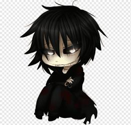Chibi Anime Drawing Mangaka Manga boy black Hair head fictional Character png PNGWing