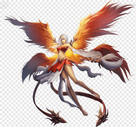 Anime Phoenix Desktop Phoenix legendary Creature computer Wallpaper video Game png PNGWing