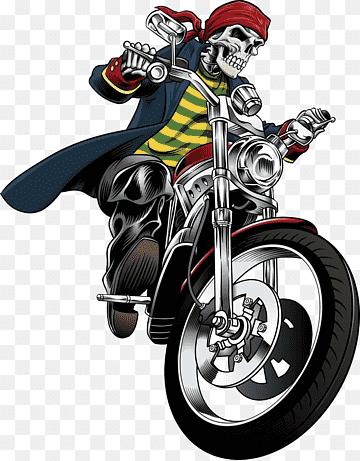 Motor Kartun Png : motor, kartun, Motorcycle, Drawing, Illustration,, Motorcycle,, Cartoon,, Vector,, Monochrome, PNGWing