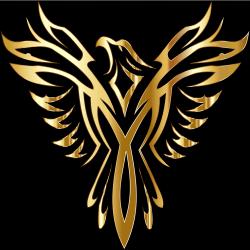 Phoenix Legendary creature Myth Fire Phoenix logo computer Wallpaper symmetry png PNGWing