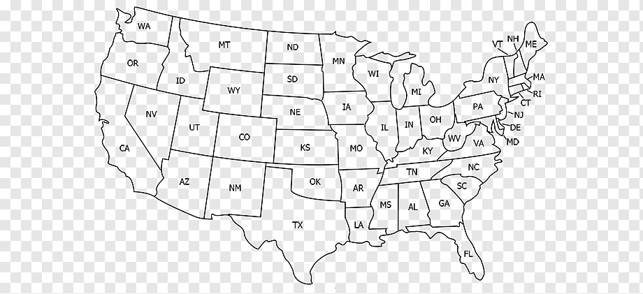 The map legend is sometimes called the map key. United States World Map U S State Abbreviation Map Usa Angle White Text Png Pngwing