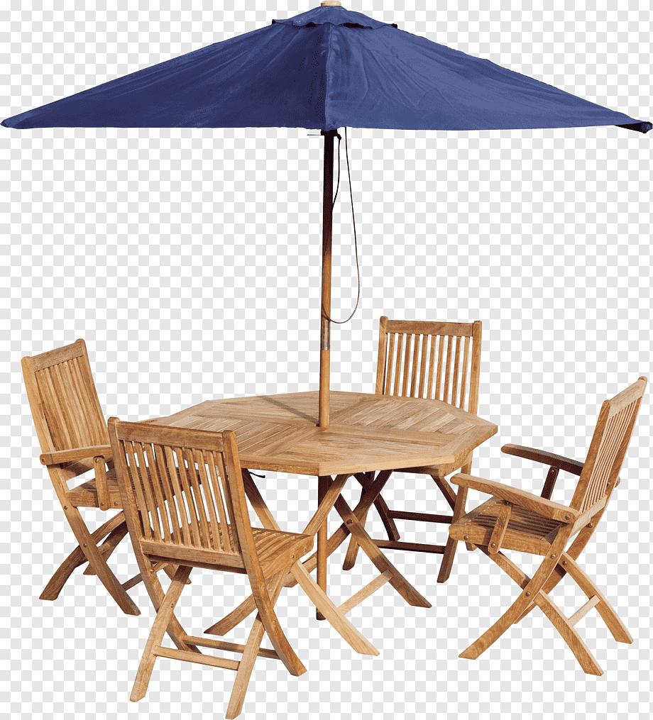 octagonal brown wooden 5 piece patio