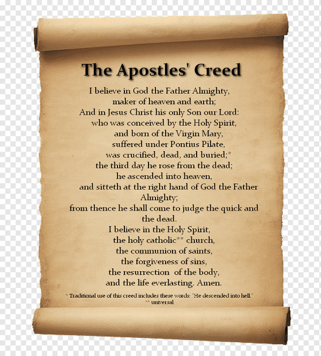 Apostles Creed png images  PNGWing
