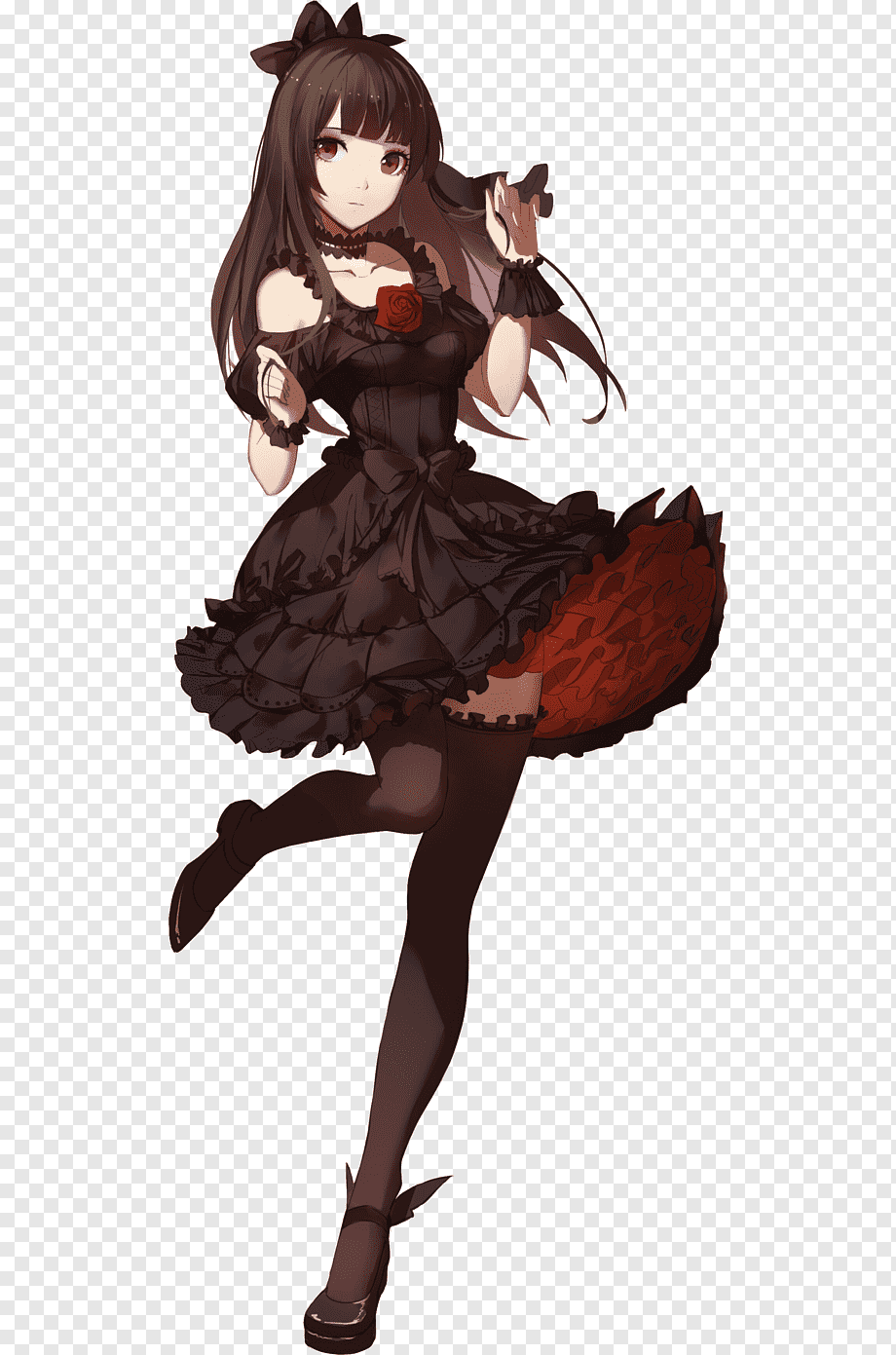 Anime Black Dress : anime, black, dress, Anime, Little, Black, Dress, Manga, Clothing,, Anime,, Blue,, Hair,, PNGWing
