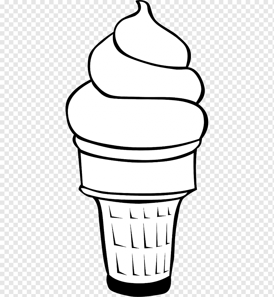Ice Cream Cones Sundae Colouring Pages Waffle Ice Cream Png Pngwing