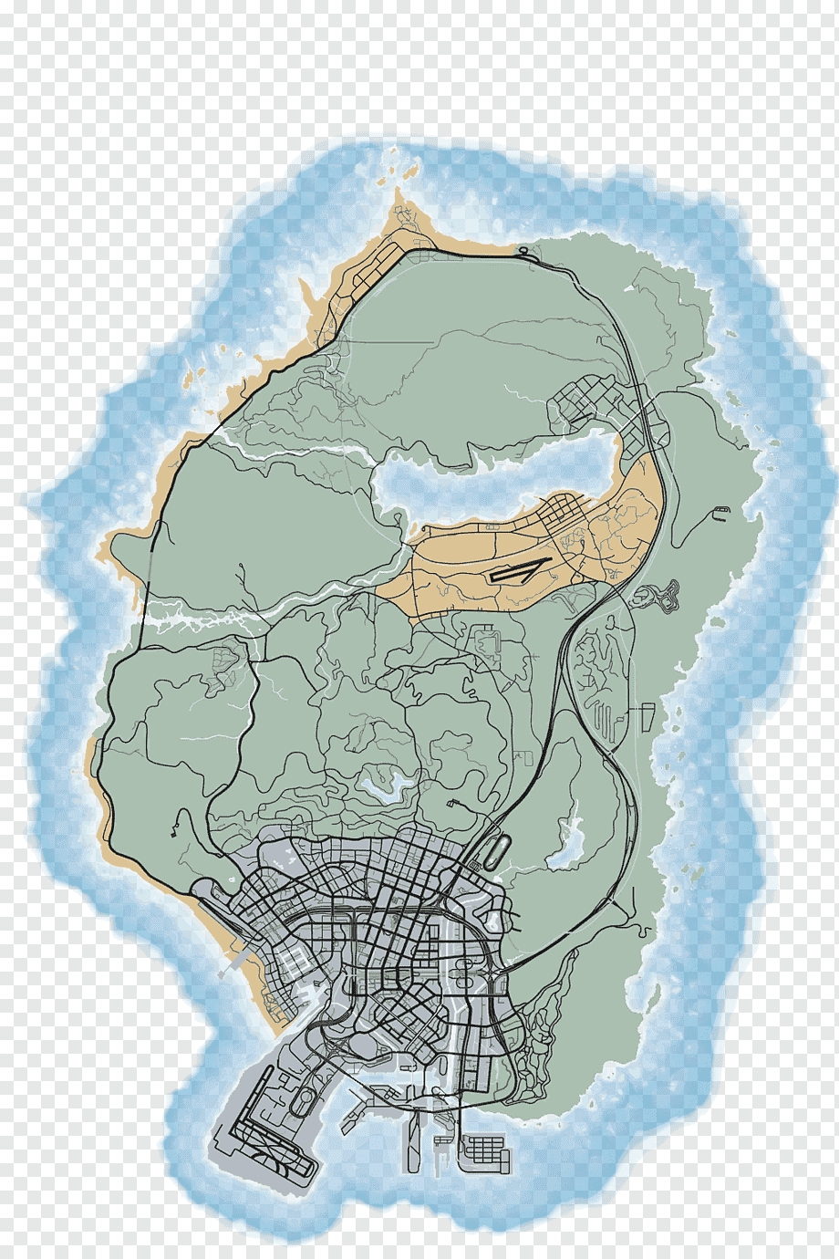 Gta San Andreas Tags Map : andreas, Grand, Theft, Auto:, Andreas, Online, Multiplayer,, Game,, Video, World, PNGWing