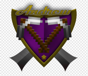 Minecraft: Pocket Edition Minecraft Forge Mod Cops N Robbers Installer Logo Shield purple weapon dungeons png PNGWing