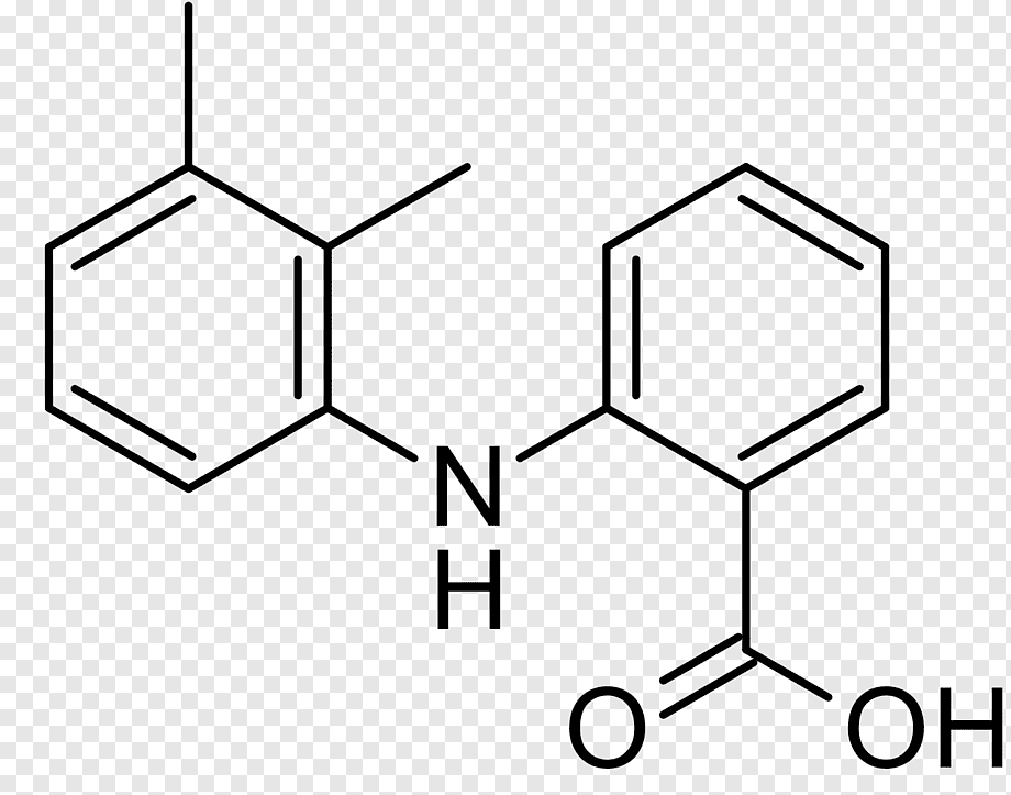 Mefenamic acid Chemistry Benzoic acid Structural formula