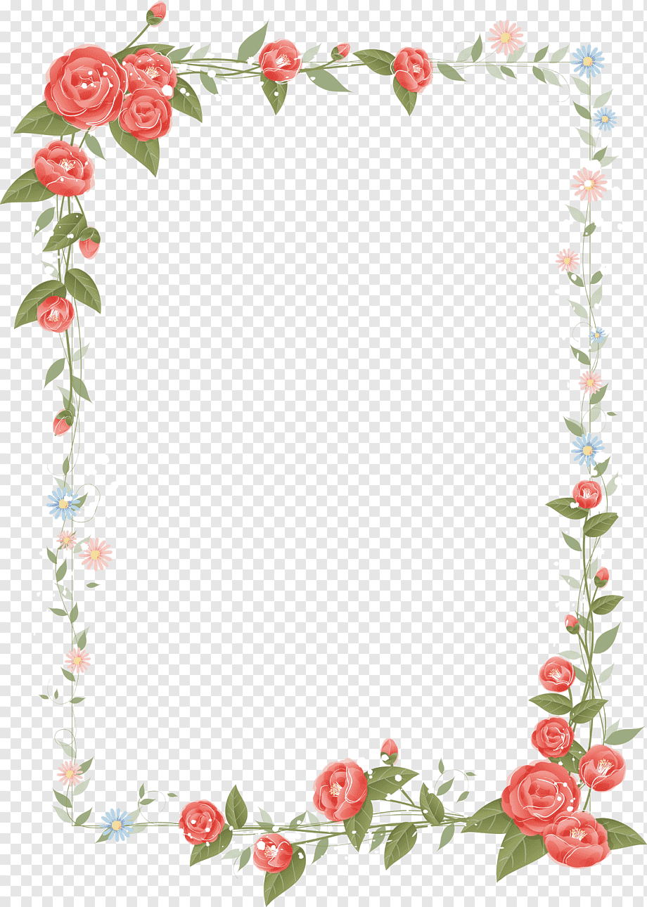 Bingkai Bunga Png : bingkai, bunga, Color,, Color, Border,, Frame,, Flower, Arranging, PNGWing