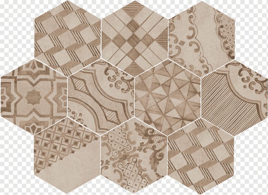 porcelain tile clay hexagon marazzi